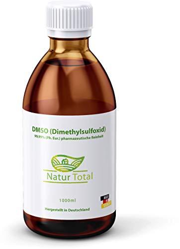 DMSO 99,9% Reinheit Dimethylsulfoxid 1000ml: Apothekerflasche 99,99% (Ph. Eur.) pharmazeutische Reinheit/Qualität - zertifiziert...