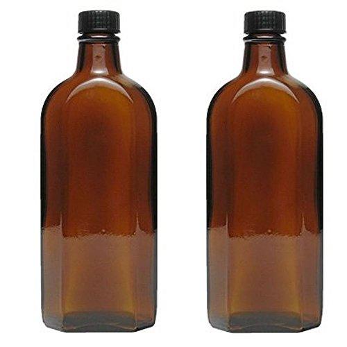 Viva-Haushaltswaren 2x Medizinflasche in Braunglas Apothekerflasche inkl. Etiketten a 250ml