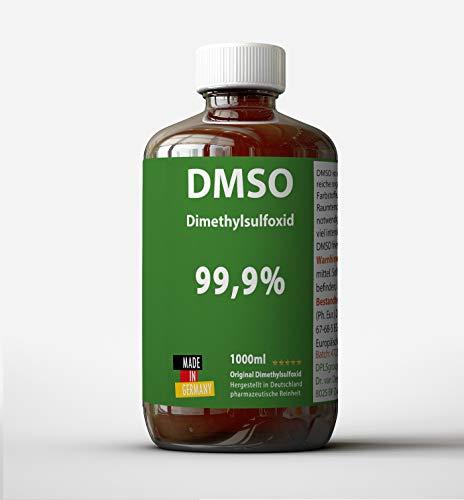 DMSO 1000ml 99,9 % Reinheit ph eur: Dimethylsulfoxid unverdünnt - DMSO Made in Germany - ohne Zusatzstoffe - Apothekerflasche -...