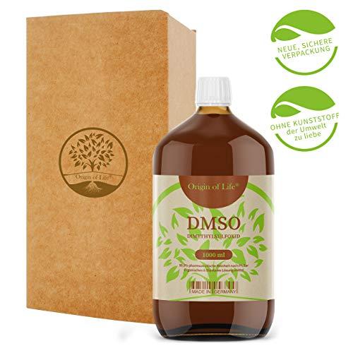DMSO 1000ml 99.9% Reinheit - pharmazeutisch Rein nach Ph. Eur. - unverdünnt – Dimethylsulfoxid – ohne Zusatzstoffe - DMSO 1L...